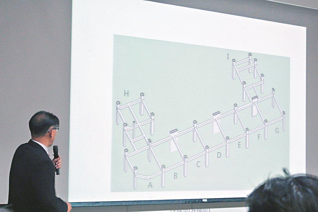 南市倒塌維冠金龍大樓梁柱結構圖,H棟有多處梁柱沒有相互連結的部位,A棟還有弧型柱...