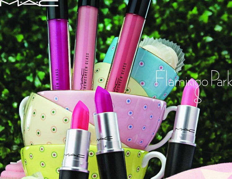M.A.C火鶴公園系列主打甜美的粉紅色系彩妝。圖/M.A.C提供
