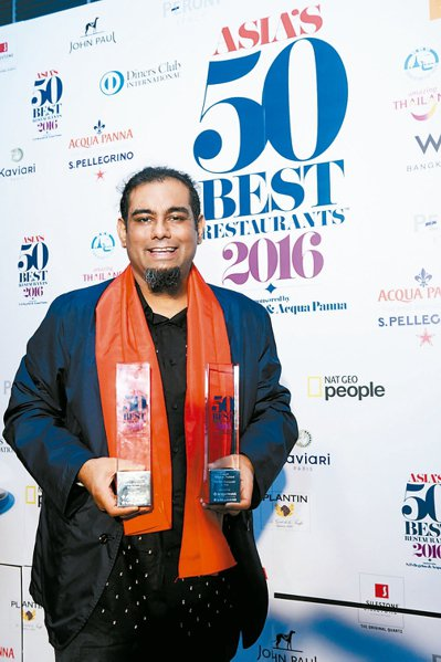 2016亞洲50最佳餐廳第一名Gaggan餐廳的主廚Anand Gaggan。