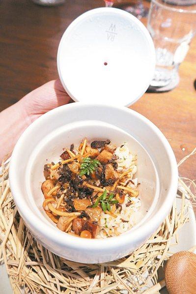RAW「台灣米、豬肉、松露」,嘗起來有濃濃台灣風味。