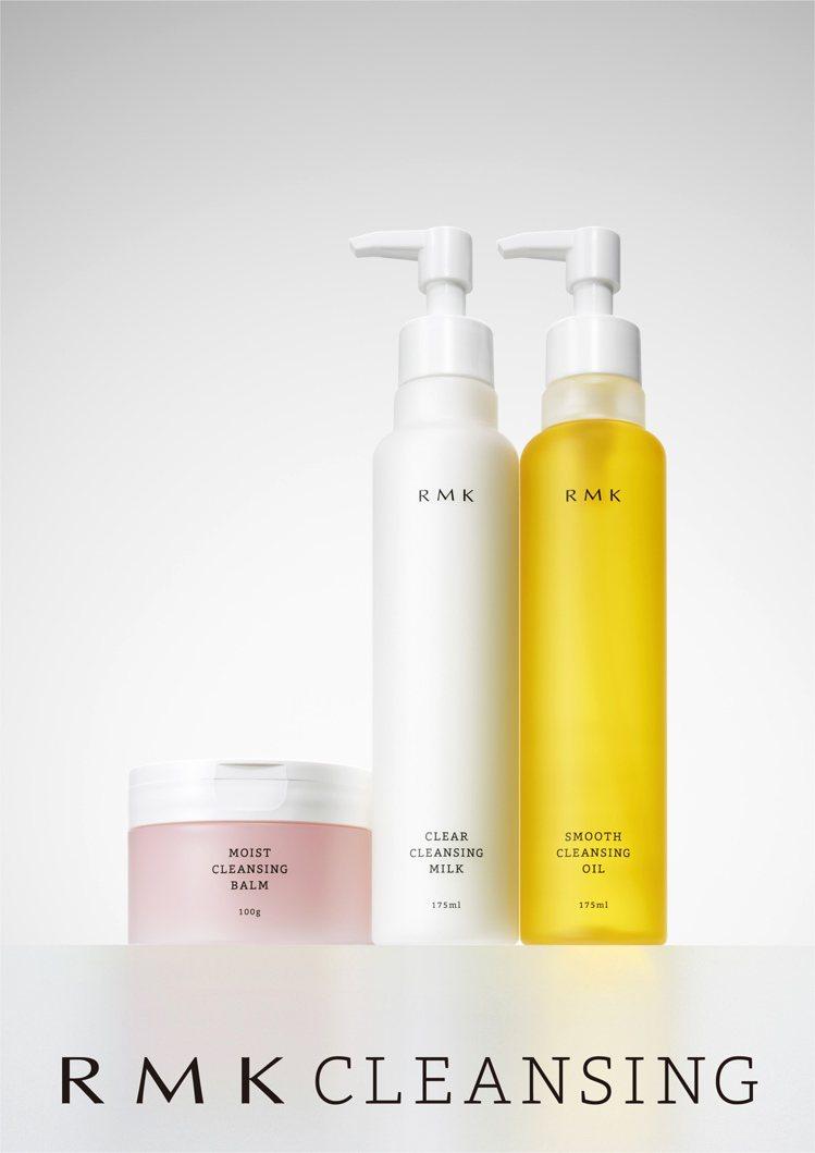 RMK推出玫瑰潔膚凝霜、潔膚油、潔膚乳等三款升級版潔膚商品,1,100~1,20...