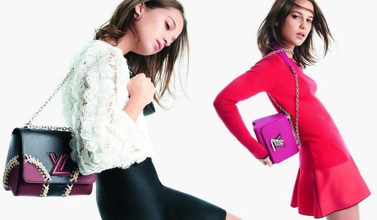 艾莉西亞為LV「Twist」搖擺輕舞拍形象廣告。圖LV提供