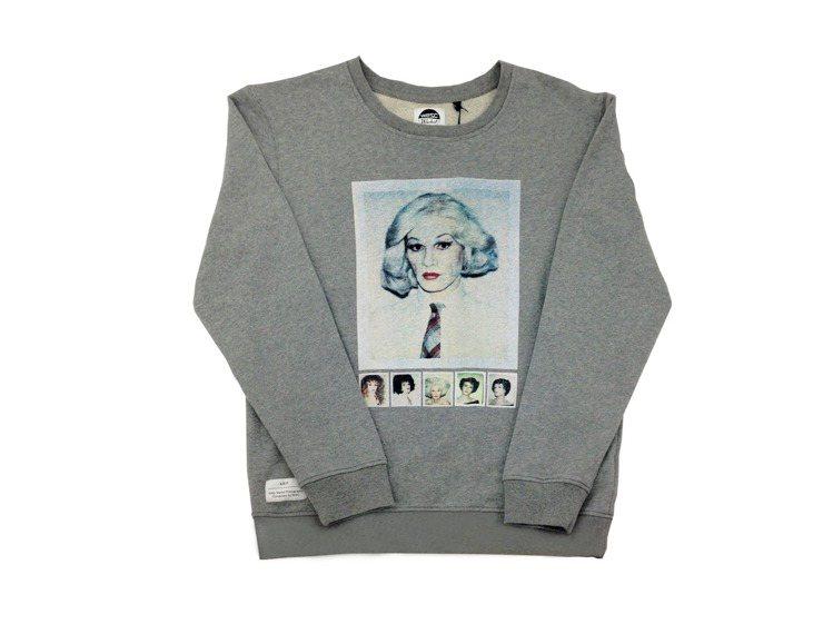 WeSC X Andy Warhol灰色長袖照片T,售價3,280元。圖/WeS...