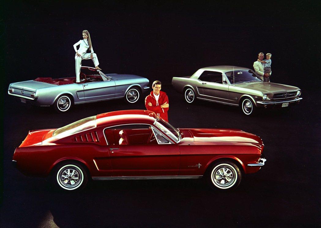 第一代的Ford Mustang。 圖/福特六和提供