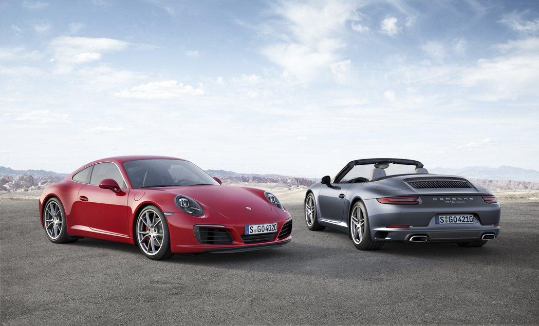 Porsche 911 carrera s及911 Carrera敞篷車型。 圖...