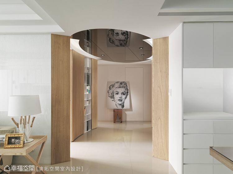 ▲無色彩的環境最能凸顯藝術品和燈具的裝飾效果。