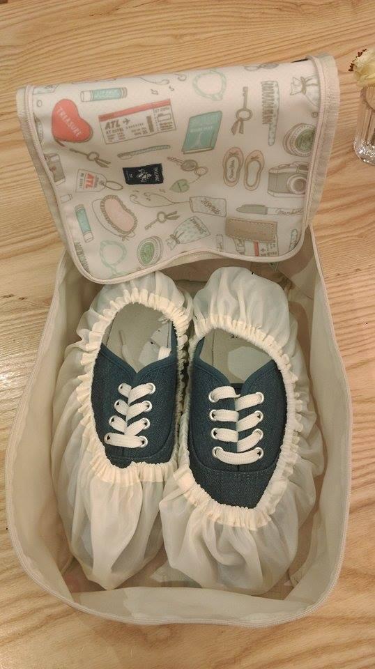 AfternoonTea鞋子收納袋附抗菌消臭機能。記者徐文玲/攝影
