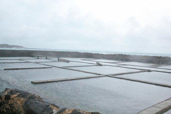 池西岩瀑附近的廢棄九孔池。 記者韓經淳/攝影