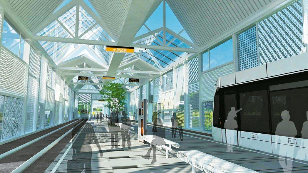 新北捷運「三環三線」的安坑輕軌土建主體工程昨天簽約,預計4月6日動工,多個站體都...