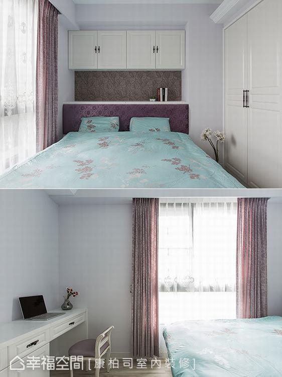 ▲主臥房: 主臥房延續公領域的潔白色調,透過木地坪的溫潤、寢飾的搭配,創造不一樣...