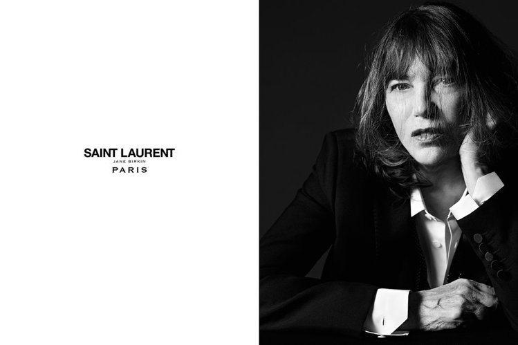 女星珍柏金演繹的 Le Smoking 廣告。圖/擷取自Saint Lauren...