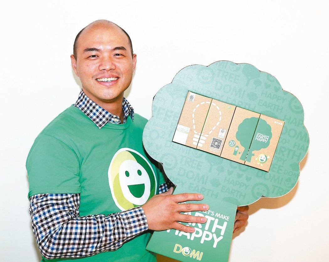 台灣獲得B型企業認證「DOMI」綠然能源創始園丁連庭凱。 記者曾吉松/攝影