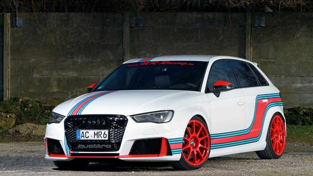 MR Racing將RS3 Sportback加入如同Martini一樣的車身彩...