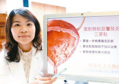 醫師蔡青倍建議,婦女出現頻尿、解尿不順請立即就醫。 記者趙容萱/攝影