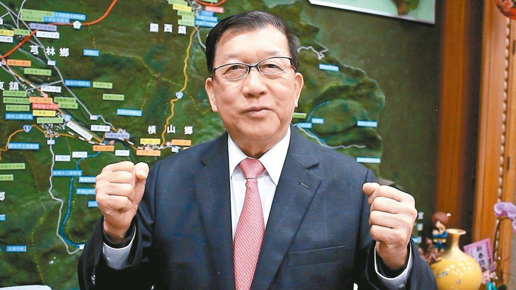 新竹縣長邱鏡淳希望520後中央與地方一起繼續打拚。 記者林麒瑋╱攝影