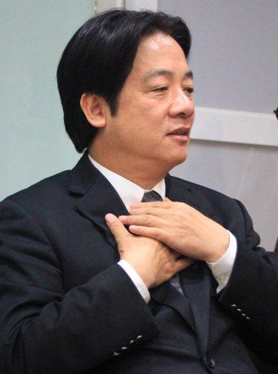 對於「挑戰下屆新北市長」之說,賴清德強調他是台南人的市長。 記者曹馥年/攝影