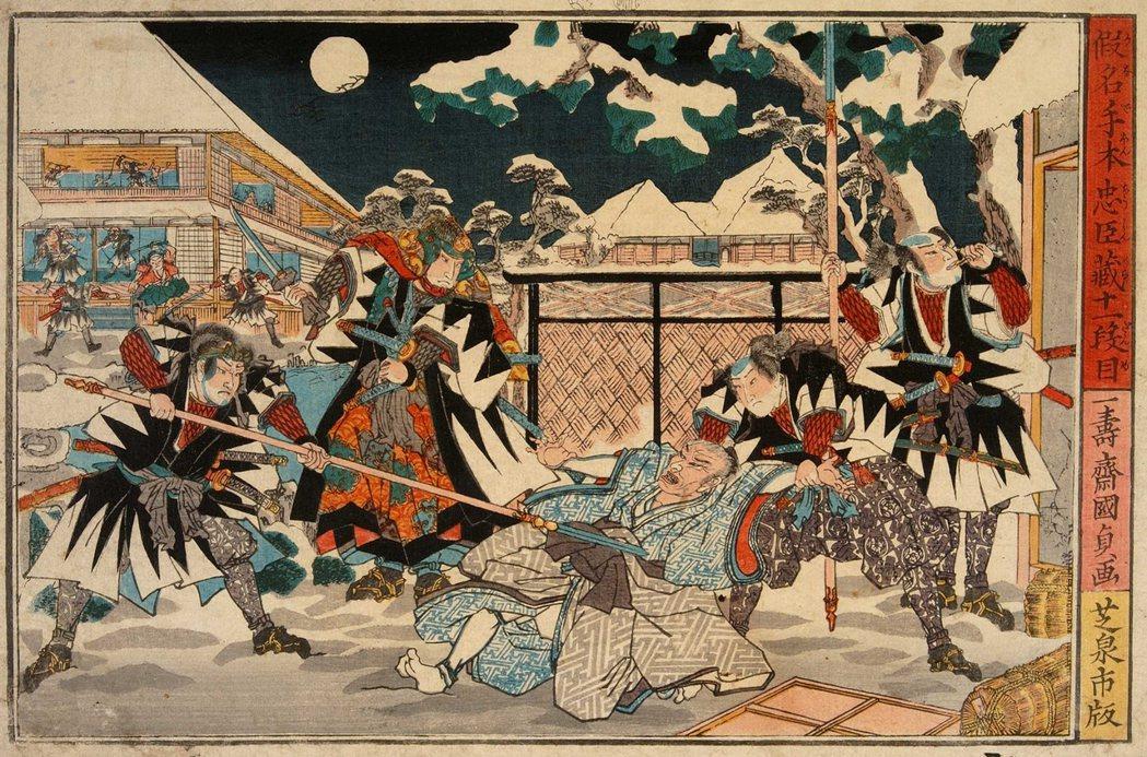 大石內蔵助(圖中)為主君復仇的故事,是江戶時代、乃至今日,全日本最廣為流傳的復仇...