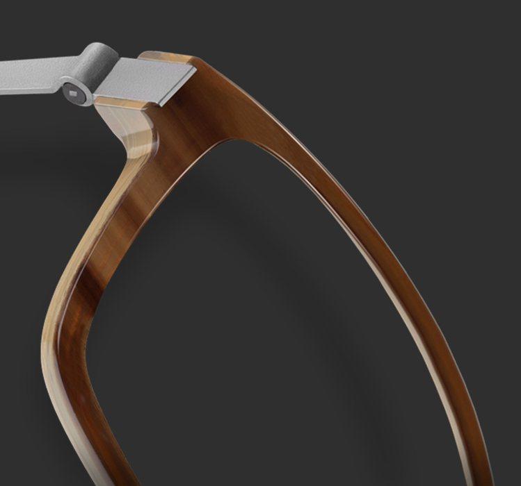 LINDBERG Horn牛角系列有天然材質獨特的色澤和紋理。圖/必久戴提供