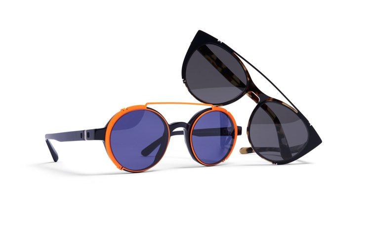 MYKITA春夏clip on(外掛式)太陽眼鏡,有搶眼的對比色系元素,建議售價...
