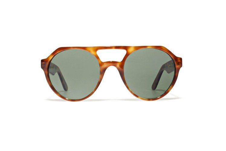 L.G.R雙鏡橋的復古太陽眼鏡,建議售價15,800元。圖/L.G.R提供