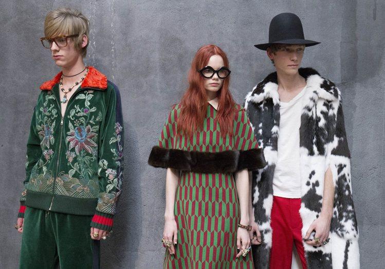 Gucci 2016秋冬男裝秀的後台。圖/Gucci提供