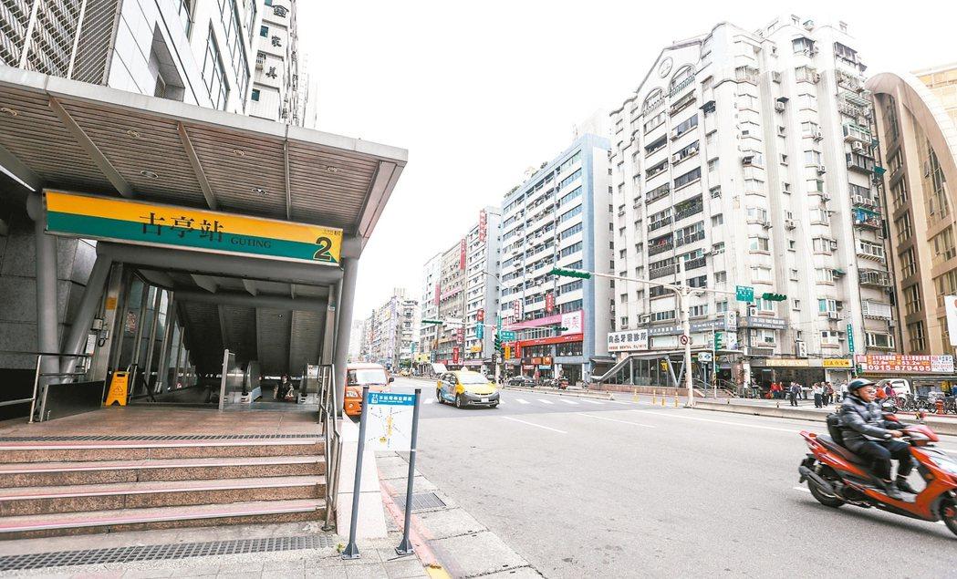 古亭捷運站為松山新店線及中和新蘆線交會站,交通便捷。 記者程宜華/攝影