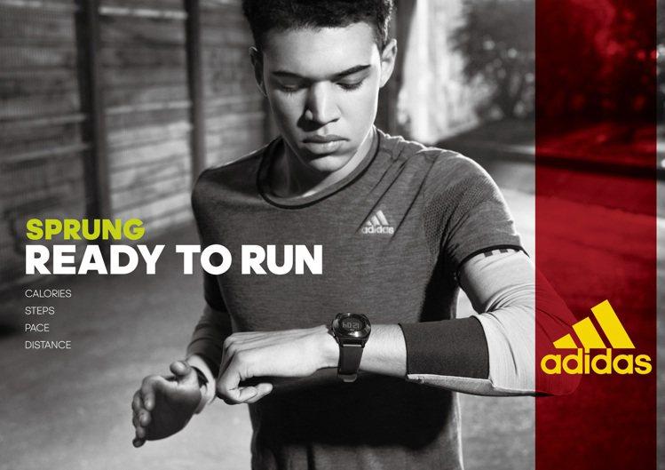 adidas Sprung都會跑者系列採用玻璃纖維表殼,輕巧耐用。圖/台灣富思提...