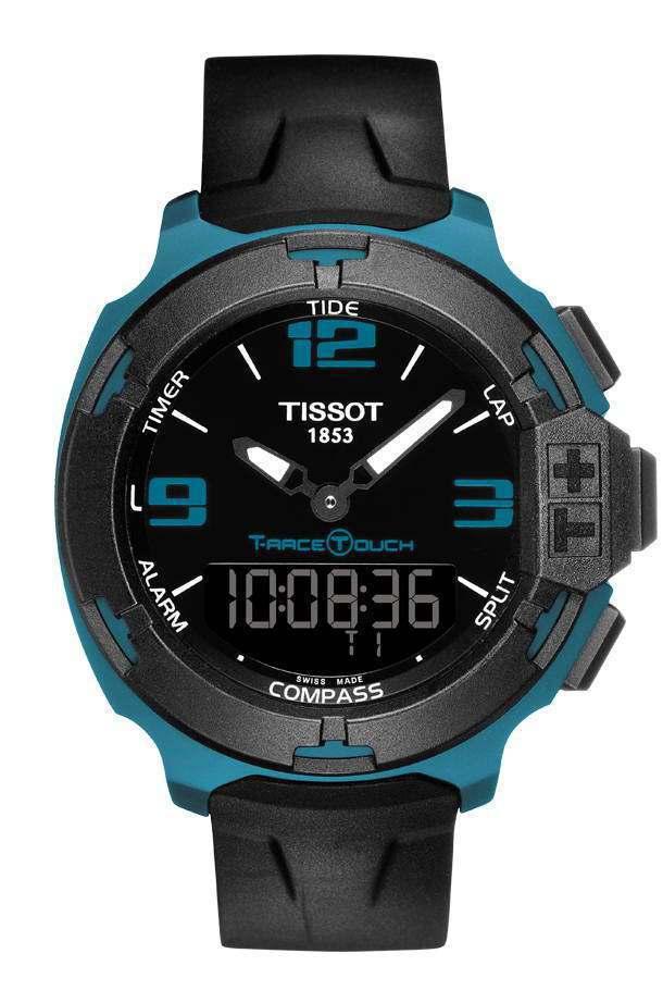 天梭T-Race Touch腕表採用輕量化鋁質表殼,更符合跑者運動需求。圖/天梭...