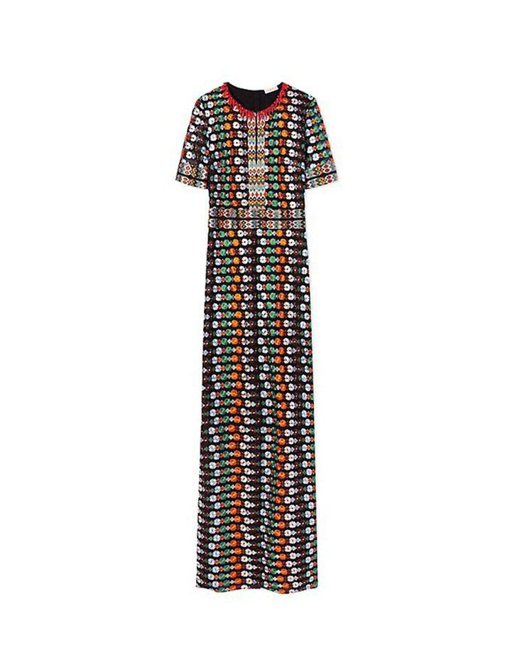 茱兒芭莉摩和英國劍橋公爵夫人凱特密道頓穿的同一件 Tory Burch 彩色洋裝...