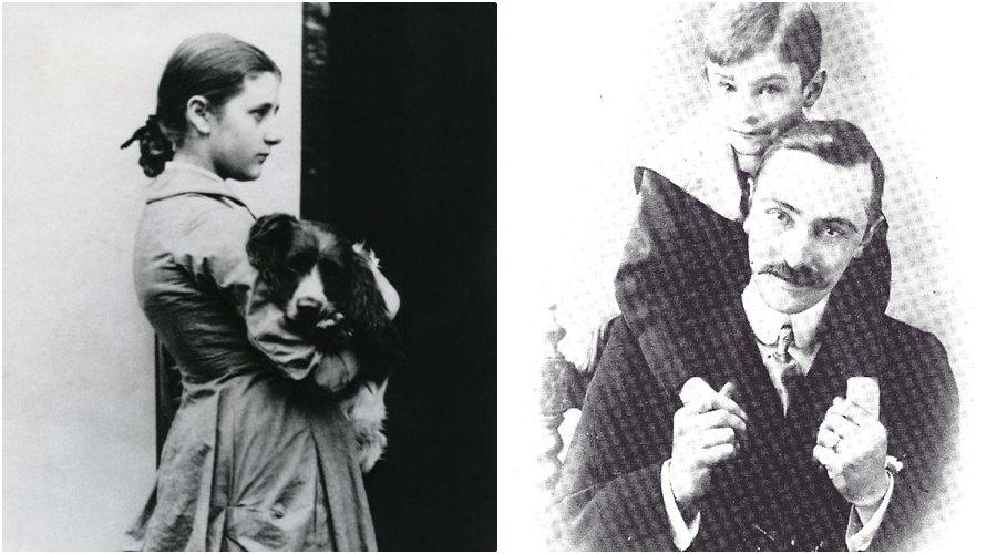 現實世界中,年輕的波特(左)與華恩(右)。 圖/維基共享