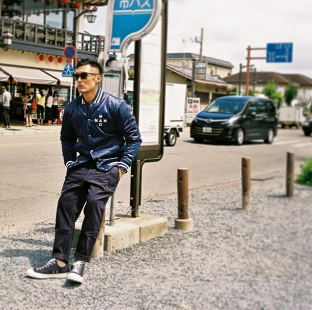 余文樂為自家品牌當模特兒。 圖/摘自CMSS官方臉書