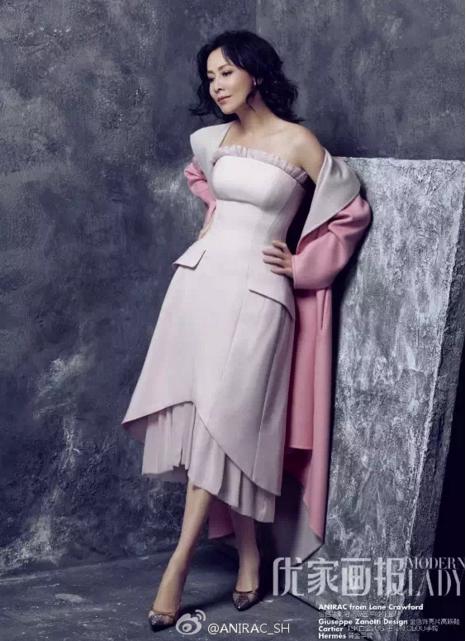 劉嘉玲推出女性時裝品牌「ANIRAC」。 圖/摘自微博