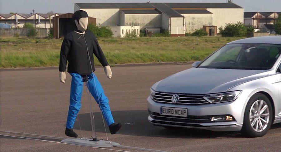 Euro NCAP公佈最新的行人碰撞防護成績前五名車輛。 摘自Euro NCA...