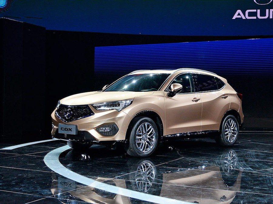 Acura在北京車展中發表全新休旅CDX。 摘自carscoops.com
