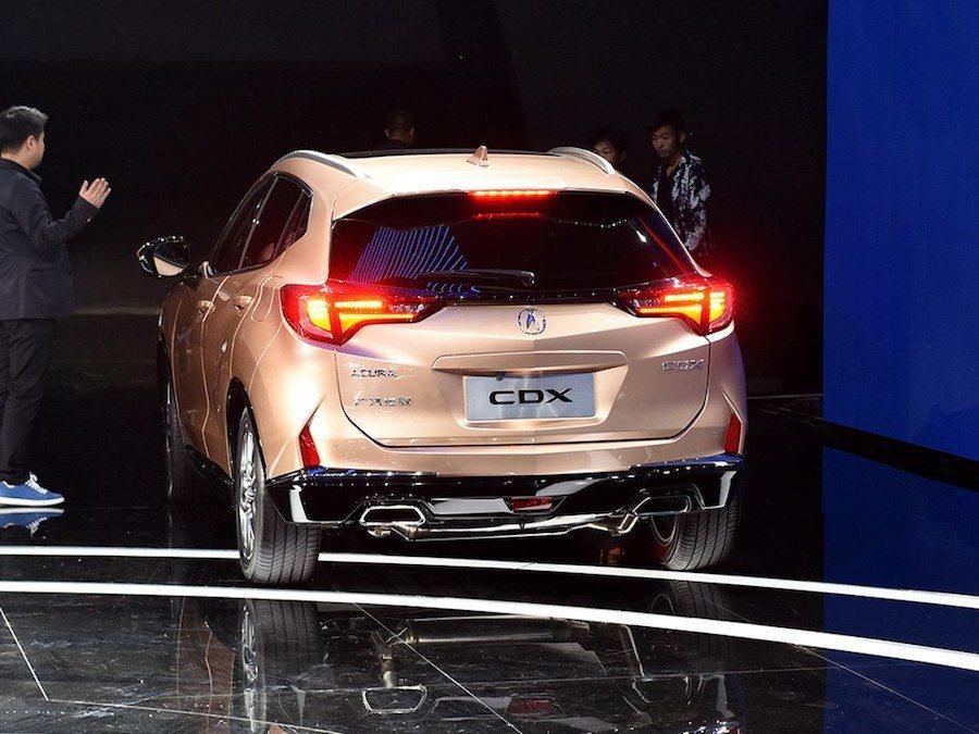 Acura CDX預計在今年第四季於中國上市。 摘自carscoops.com