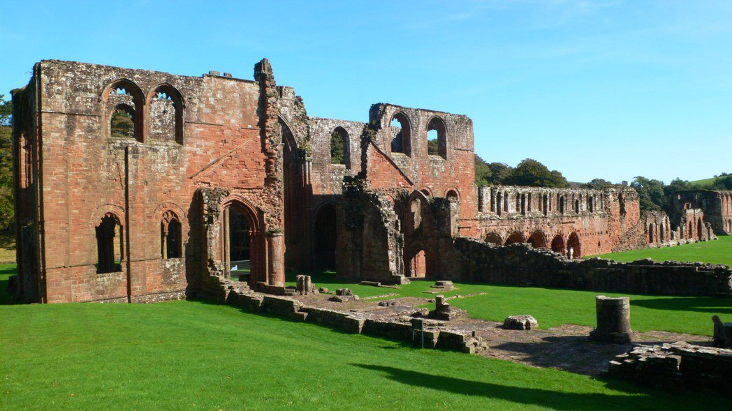 在亨利八世的「修道院大解散」命令下,大規模的修道院,如佛內斯大修道院(圖)皆被摧...