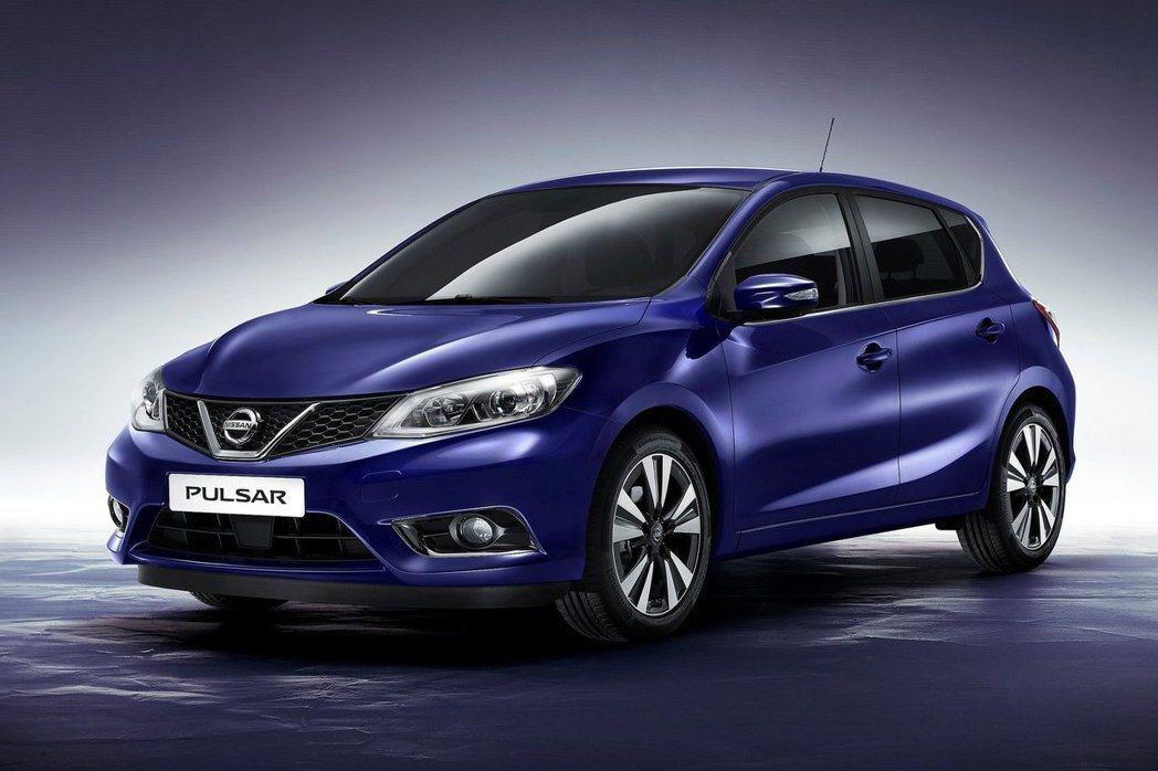 歐洲Nissan Pulsar外型與國版稍有差異。 摘自Nissan