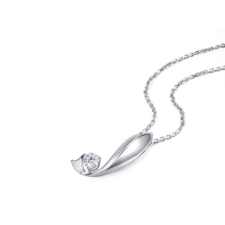 Infini Love Diamond Iconic 系列18K白金鑽石吊墜,3...