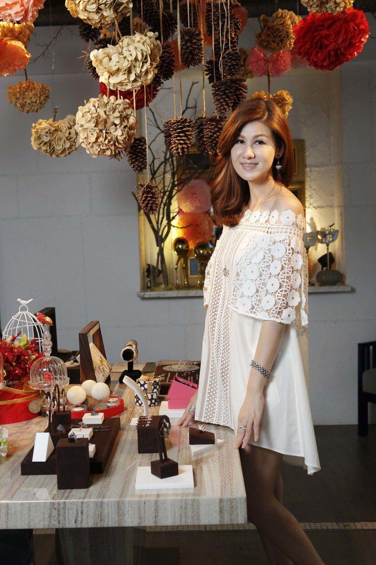 孫珮頤Peggy Sun,自創FairyQ時尚珠寶品牌。圖╱FairyQ提供