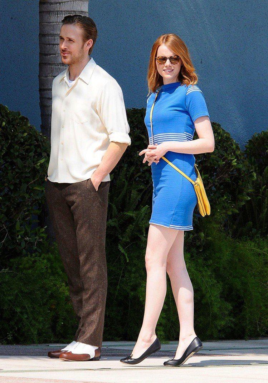 艾瑪史東與萊恩葛斯林二度合作合演《爵士情緣》。圖/達志影像
