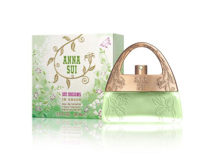 ANNA SUI甜蜜夢境茉綠限量版淡香水,30ml/1,500元。圖/法意提供