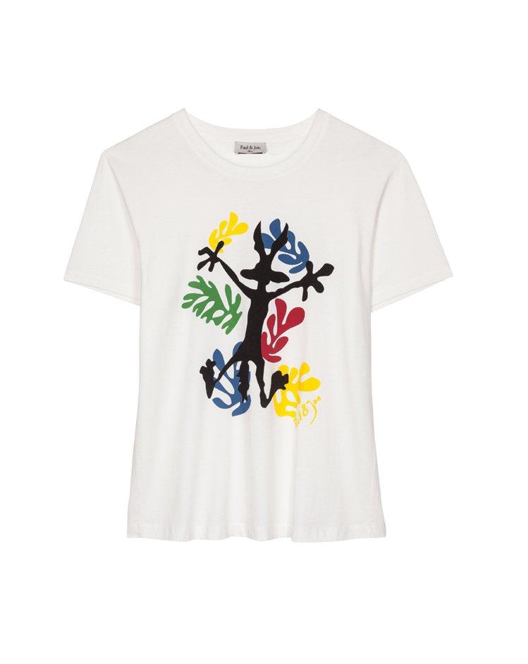 兔巴哥彩繪T-Shirt $5800。圖/PAUL & JOE SISTE提供