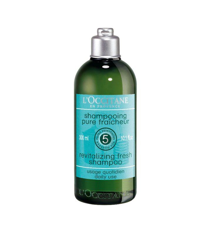 歐舒丹草本淨涼洗髮乳,300ml/980元。圖/L'OCCITANE提供
