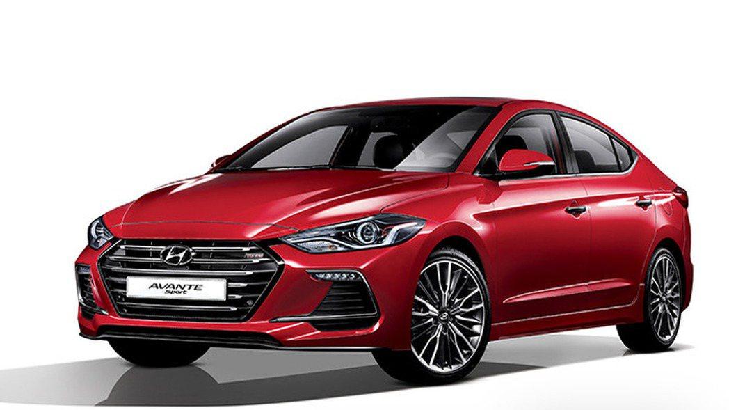 車頭下方也具備類碳纖維空力套件,提升運動感。 摘自Hyundai