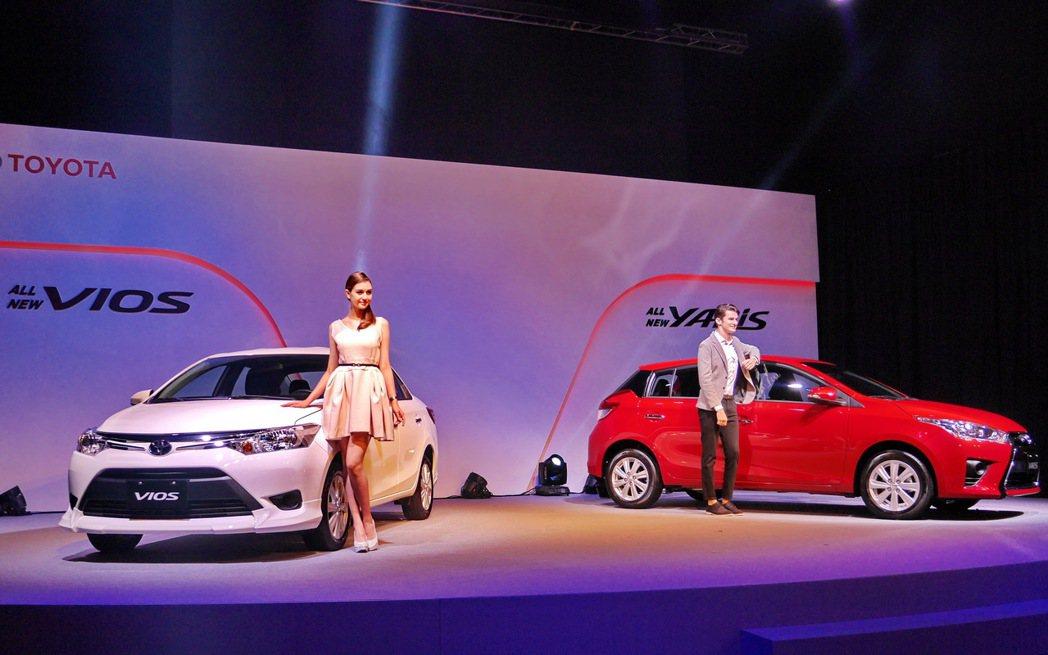 Toyota總代理和泰汽車發表全新小改款Yaris及Vios。 記者陳威任/攝影