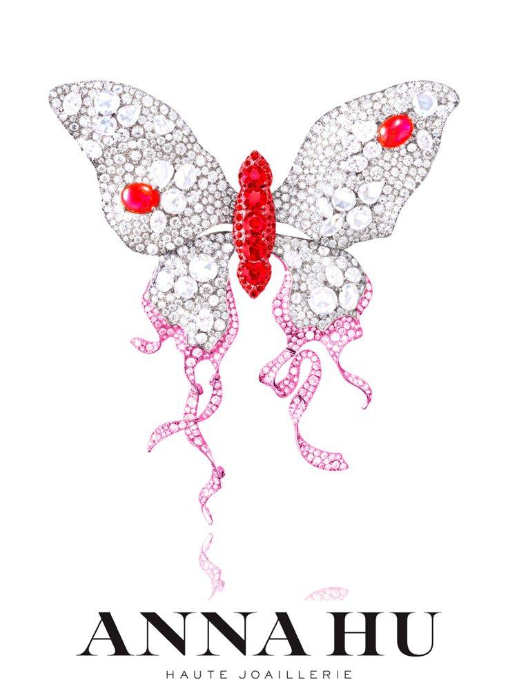 《浴火鳳蝶》珠寶。圖/Anna Hu提供
