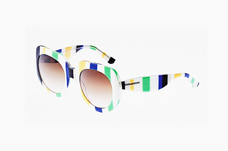 DOLCE & GABBANA太陽眼鏡多彩且框形符合復古潮流。圖/業者提供