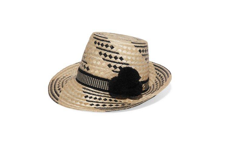 YOSUZI草帽。圖/NET-A-PORTER提供