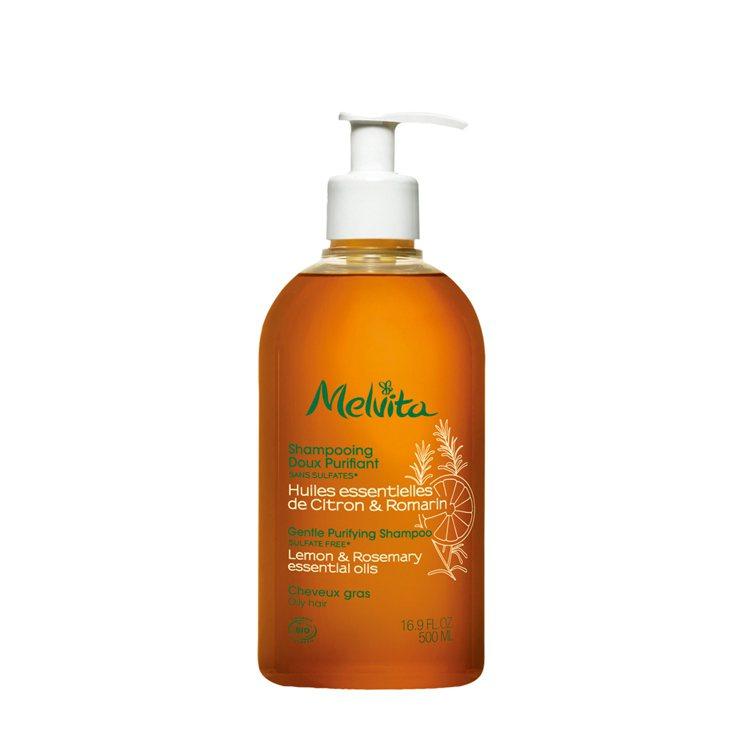 Melvita淨化洗髮精,200ml/580元、500ml/1,180元。圖/M...