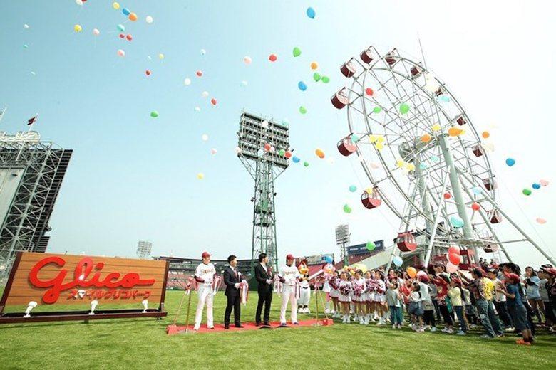 5月3日,樂天金鷲隊主場舉辦摩天輪揭幕儀式。  圖/取自J-Cast